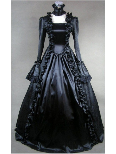 black victorian ball gown - photo #6