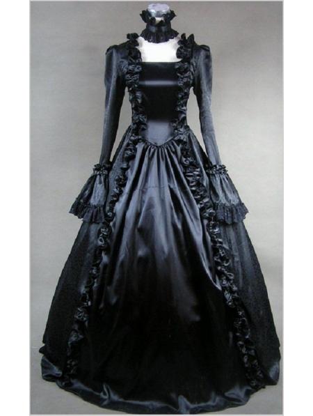 Black Masquerade Gothic Ball Gowns - Devilnight.co.uk