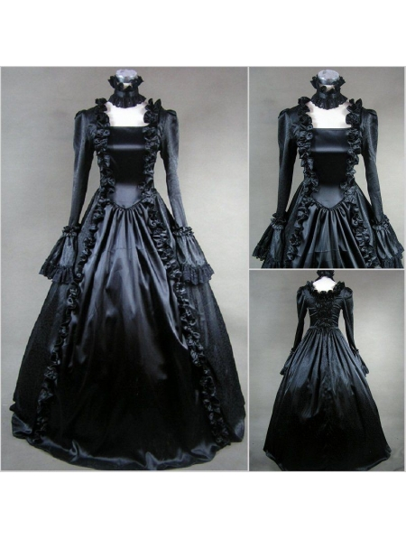 Black Masquerade Gothic Ball Gowns Devilnight Co Uk