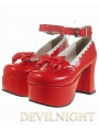 Red Sweet Lolita High Heel Shoes
