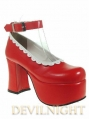 Red Sweet Lolita High Heel Shoes