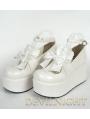White/Pink/Black/Red Sweet Bow Lolita Platform Shoes