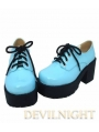 Sparkling White/Black/Red/Blue Classic High Heel Lolita Leather Shoes