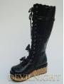 Little Princess Style Black/Pink Chalaza Sweet Lolita Platform Boots