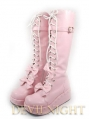 Pink/Black/White Little Girl Sweet Lolita Platform Boots