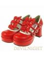 Red/Pink Princess Style High-Heel Sweet Lolita Shoes