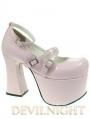 Red/Pink/Black Belt High Heel Sweet Lolita Shoes