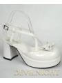 White Cross Blet High Heeled Sweet Lolita Sandals