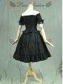 Black Off-the-Shoulder Short Sleeves Gothic Lolita Dress