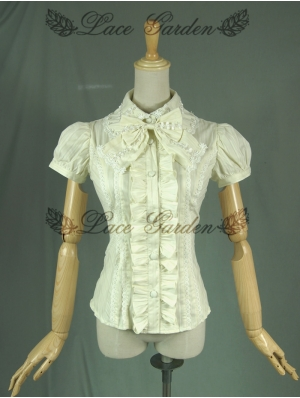 Ivory Short Sleeves Sweet Lolita Blouse