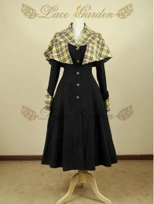 Black Long Sleeves Vintage Gothic Coat