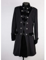 Black Winter Gothic Coat for Men