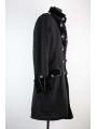 Black Winter Gothic Coat for Men