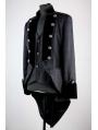 Black Pattern Double Breasted Tuxedo Style Gothic Jacket for Men
