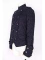 Black Pattern Short Gothic Jacket for Men