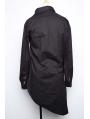 Alternative Black Long Sleeves Gothic Blouse for Men