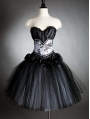Black Gothic Corset Prom Dress