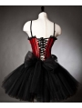 Red and Black Gothic Corset Dress