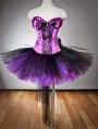 Purple and Black Gothic Burlesque Corset Party Dress