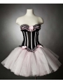 Black and White Short Burlesque Corset Party Dress