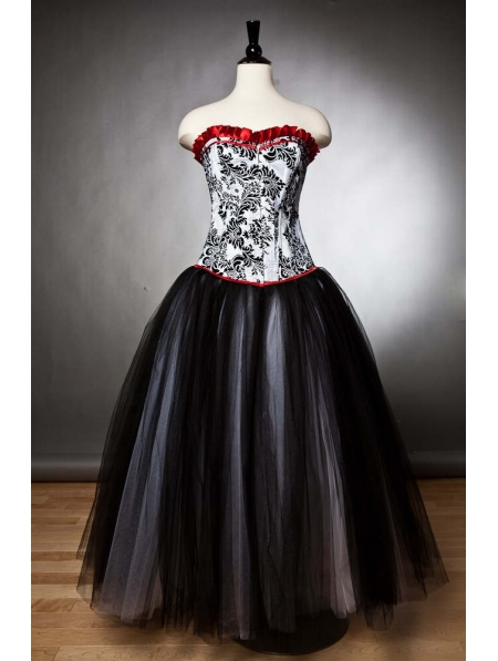 Black Romantic Gothic Corset Prom Party Gown Devilnight