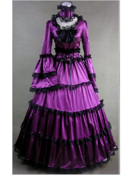 Purple Masquerade Gothic Ball Gowns Devilnight Co Uk
