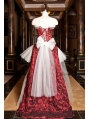 Red and White Fashion Corset Burlesque High-Low Prom Party Dress