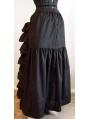 Black/White Cotton Victorian Bustle Skirt