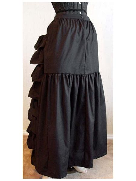 Black White Cotton Victorian Bustle Skirt Devilnight Co Uk