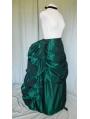 Green Taffeta Victorian Bustle Skirt