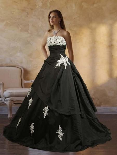 wedding dresses black and white uk 104