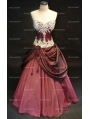 Taffeta Sweetheart Applique Ball Gown Gothic Wedding Dress