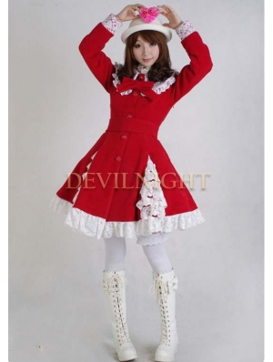 Sweet Lace Princess Bow Winter Lolita Coat