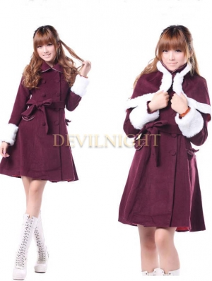 Classic Elegant Winter Lolita Cape Coat