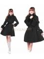 Black Classic Winter Lolita Cape Coat