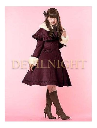 Sweet A-Line Winter Lolita Cape Coat