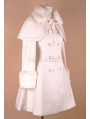 White Elegant Winter Lolita Cape Coat