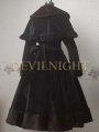 Black Elegant Winter Lolita Cape Coat