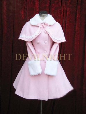 Pink Sweet Princess Winter Lolita Cape Coat