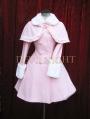 Pink Sweet Princess Winter Lolita Cape Coat