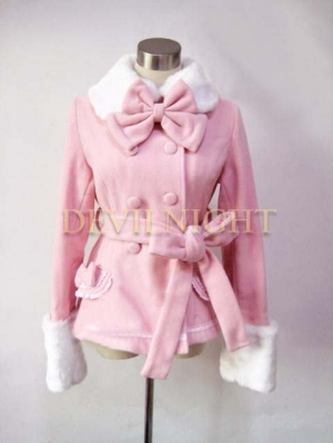 Pink Sweet Princess Short Winter Lolita Coat