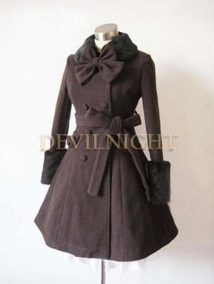 Black Elegant Winter Lolita Coat
