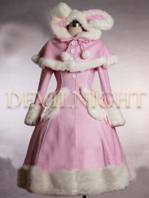 Pink Sweet Winter Lolita Hooded Coat