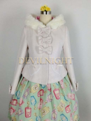 Sweet Princess Short Winter Lolita Hooded Coat