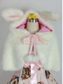 Fur Sweet Short Hooded Cape
