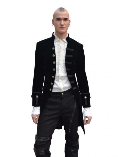 Black Alternative Gothic Coat for Men