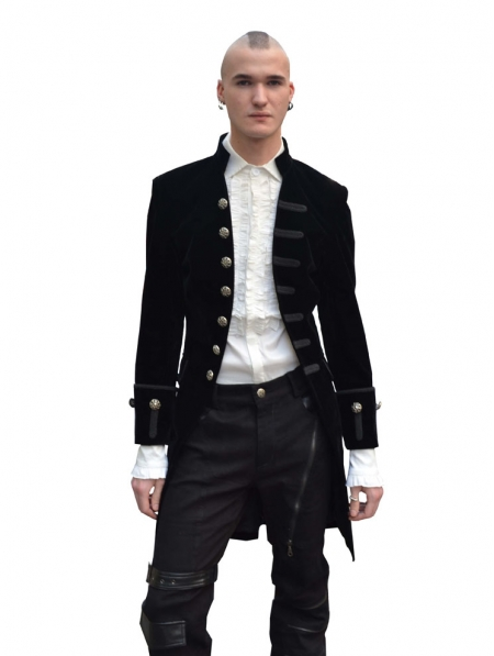 Black Alternative Gothic Coat For Men Devilnight Co Uk