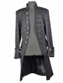 Black Alternative Pattern Gothic Coat for Men