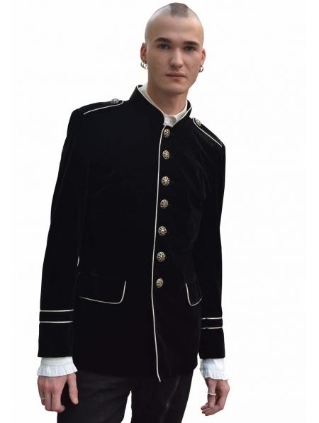 Black Military Style Gothic Coat For Men Devilnight Co Uk