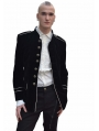 Black Military Style Gothic Coat for Men